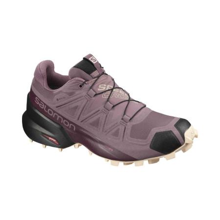 Pantofi Alergare Femei Salomon  Speedcross 5 Gtx W Flint/Bk/Bellin