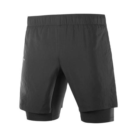 Pantaloni Scurti Alergare Barbati Salomon XA TWINSKIN SHORT M Negru