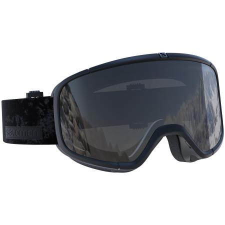 Ochelari Ski Salomon Four Seven Black / Universal Mirror Silver