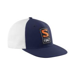 Sapca Unisex Salomon CAP TRUCKER FLAT CAP Bleumarin