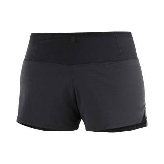 Pantaloni Scurti Alergare Femei Salomon SENSE SHORT W Negru